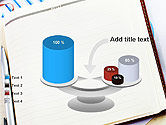 Table with Notebook Smartphone and Reports PowerPoint Template#10