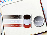 Table with Notebook Smartphone and Reports PowerPoint Template#11