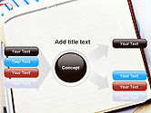 Table with Notebook Smartphone and Reports PowerPoint Template#14