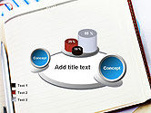 Table with Notebook Smartphone and Reports PowerPoint Template#16