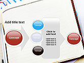 Table with Notebook Smartphone and Reports PowerPoint Template#17