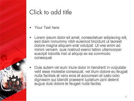 Businessman Touching Gear Elements on Screen, Slide 3, 14253, Business Concepts — PoweredTemplate.com