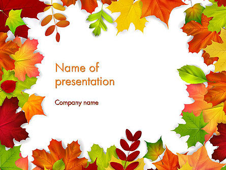 Fall leaves border frame powerpoint template backgrounds 14255 fall leaves border frame powerpoint template 14255 nature environment poweredtemplate toneelgroepblik Choice Image