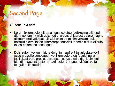 Fall Leaves Border Frame PowerPoint Template, Slide 2, 14255, Nature & Environment — PoweredTemplate.com