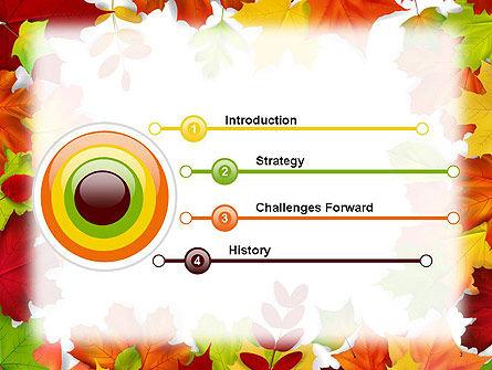 Fall Leaves Border Frame PowerPoint Template, Slide 3, 14255, Nature & Environment — PoweredTemplate.com