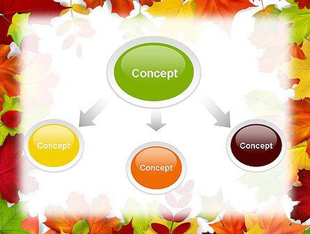 Fall Leaves Border Frame PowerPoint Template, Slide 4, 14255, Nature & Environment — PoweredTemplate.com