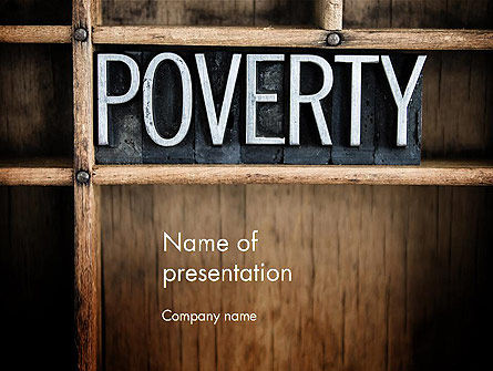 General: Word Poverty PowerPoint Template #14256