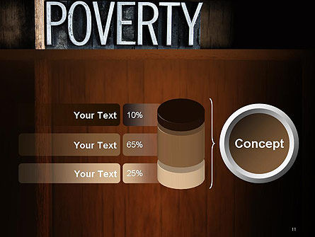 Word Poverty PowerPoint Template Slide 11