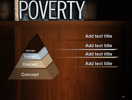 Word Poverty PowerPoint Template Slide 12