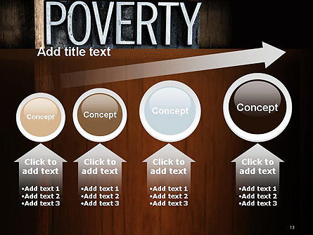Word Poverty PowerPoint Template Slide 13