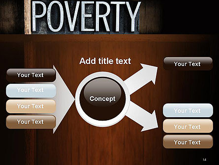 Word Poverty PowerPoint Template Slide 14