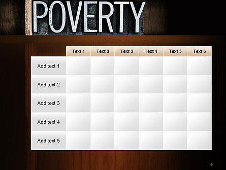 Word Poverty PowerPoint Template Slide 15
