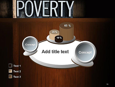 Word Poverty PowerPoint Template Slide 16