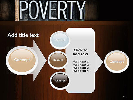 Word Poverty PowerPoint Template Slide 17