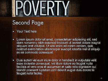 Word Poverty PowerPoint Template Slide 2