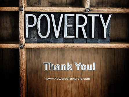 Word Poverty PowerPoint Template Slide 20