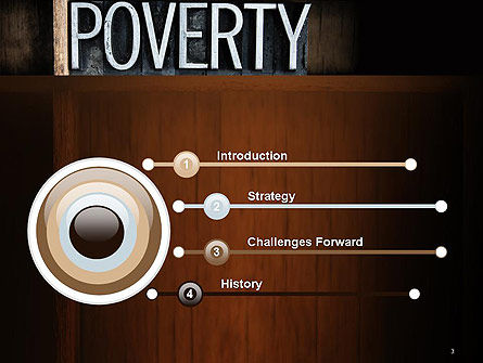 Word Poverty PowerPoint Template Slide 3