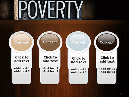 Word Poverty PowerPoint Template Slide 5