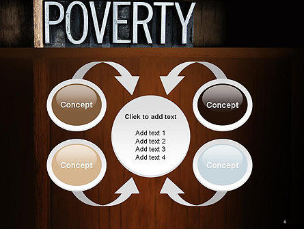 Word Poverty PowerPoint Template Slide 6