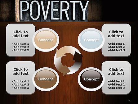 Word Poverty PowerPoint Template Slide 9