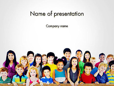 International Children's Day PowerPoint Template, 14257, People — PoweredTemplate.com