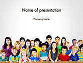 People: Dag Van De Internationale Kinderen PowerPoint Template #14257