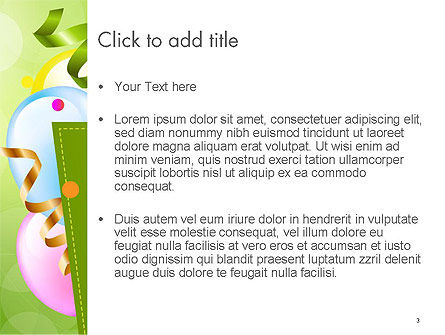 Happy Birthday Background PowerPoint Template, Slide 3, 14258, Holiday/Special Occasion — PoweredTemplate.com