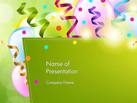Happy Birthday Background PowerPoint Template