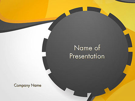 Cogwheel Concept PowerPoint Template, 14259, Business — PoweredTemplate.com