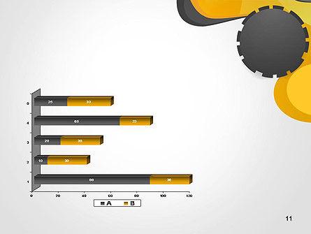 Cogwheel Concept PowerPoint Template Slide 11