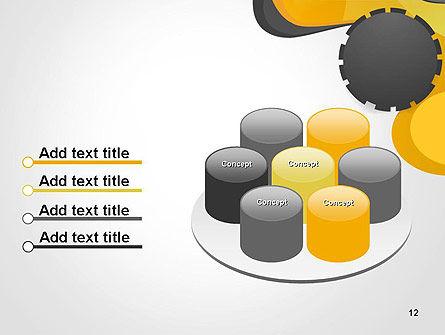 Cogwheel Concept PowerPoint Template Slide 12
