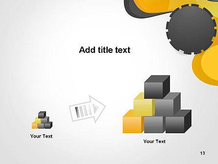 Cogwheel Concept PowerPoint Template Slide 13