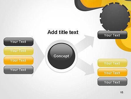 Cogwheel Concept PowerPoint Template Slide 15