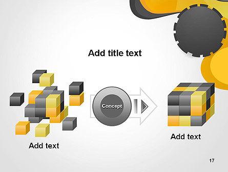 Cogwheel Concept PowerPoint Template Slide 17