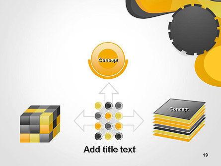 Cogwheel Concept PowerPoint Template Slide 19