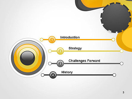 Cogwheel Concept PowerPoint Template, Slide 3, 14259, Business — PoweredTemplate.com