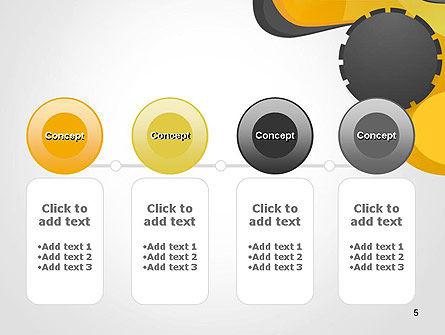 Cogwheel Concept PowerPoint Template Slide 5