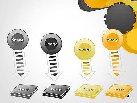 Cogwheel Concept PowerPoint Template Slide 8