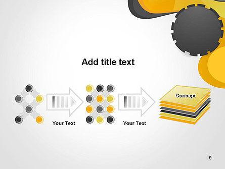 Cogwheel Concept PowerPoint Template Slide 9