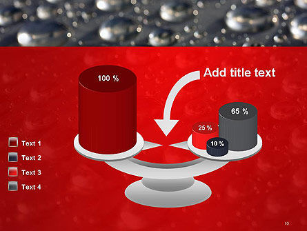 Water Drops on Metal Surface PowerPoint Template Slide 10