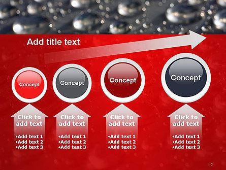 Water Drops on Metal Surface PowerPoint Template Slide 13