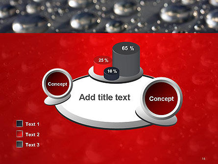 Water Drops on Metal Surface PowerPoint Template Slide 16