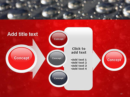 Water Drops on Metal Surface PowerPoint Template Slide 17