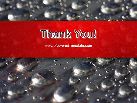 Water Drops on Metal Surface PowerPoint Template Slide 20