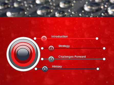 Water Drops on Metal Surface PowerPoint Template, Slide 3, 14260, Abstract/Textures — PoweredTemplate.com