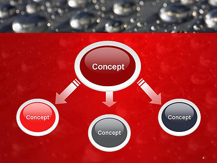 Water Drops on Metal Surface PowerPoint Template Slide 4