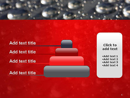 Water Drops on Metal Surface PowerPoint Template Slide 8