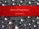 Abstract/Textures: Water Drops on Metal Surface PowerPoint Template #14260