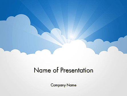Nature & Environment: Blue Sky PowerPoint Template #14262