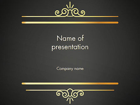 Abstract/Textures: Vintage Gold Frame PowerPoint Template #14263